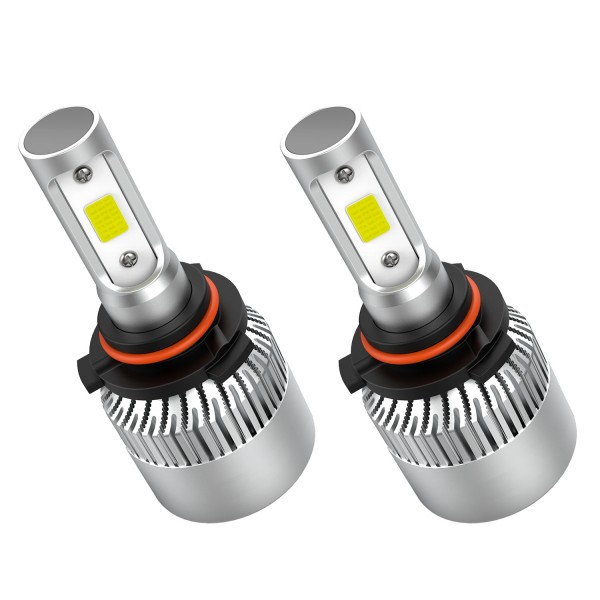 Crownova 9006 Led Headlight Bulbs, S2 Series Flip Cob Chips, 3600lm Hi/Lo Beam, 6500k Cool Daylight (9006 HB4)