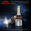 Crownova 9007 Led Headlight Bulbs, S2 Series Flip Cob Chips, 3600lm Hi/Lo Beam, 6500k Cool Daylight (9007 HB5)