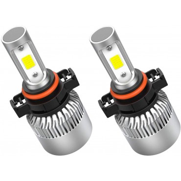 Crownova 5202 Led Headlight Bulbs, S2 Series Flip Cob Chips, 3600lm Hi/Lo Beam/Fog Lights, 6500k Cool Daylight