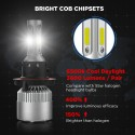 Crownova H13 Led Headlight Bulbs, S2 Series Flip Cob Chips, 3600lm Hi/Lo Beam, 6500k Cool Daylight (H13 9008)