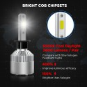 Crownova H1 Led Headlight Bulbs, S2 Series Flip Cob Chips, 3600lm Hi/Lo Beam/Fog Lights, 6500k Cool Daylight