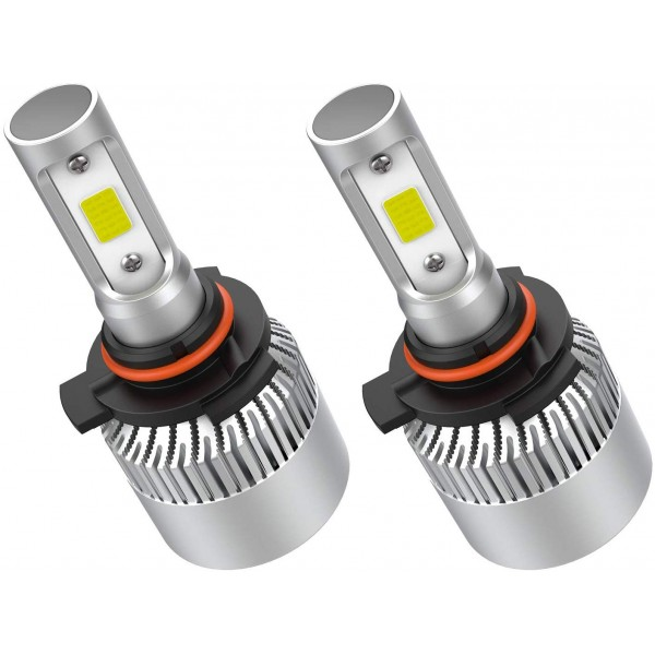 Crownova 9012 Led Headlight Bulbs, S2 Series Flip Cob Chips, 3600lm Hi/Lo Beam, 6500k Cool Daylight (9012 HIR2)