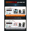 Crownova B2 h1 led headlight bulbs 8000 lumens 60W 6000K daylight white external driver with load resistor and anti-flicker CANbus decoder 2-pack