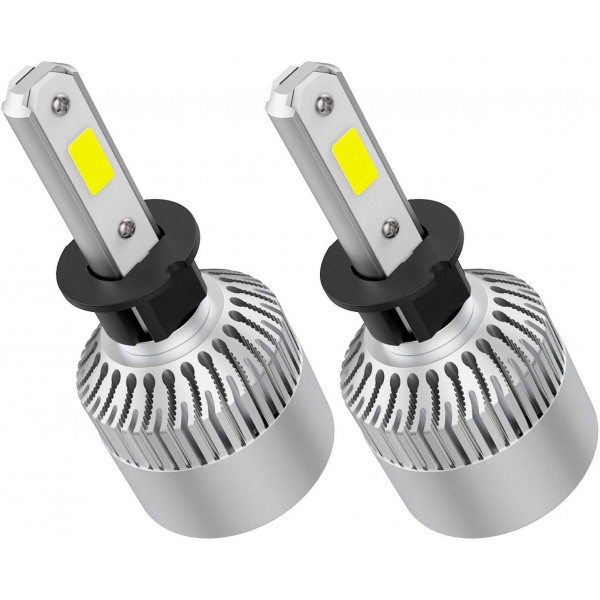 Crownova H3 Led Headlight Bulbs, S2 Series Flip Cob Chips, 3600lm Hi/Lo Beam, 6500k Cool Daylight